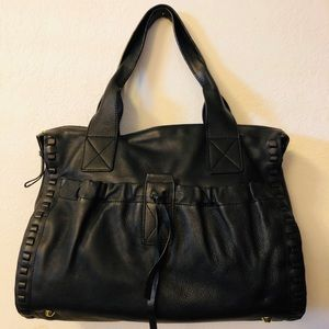 Kooba black leather handbag